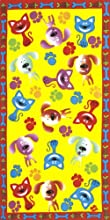 Cat and Dog Velour Beach Towel 30X60 inches Made in Brazil