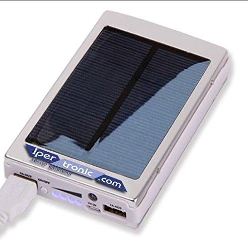 Ipertronic Solar Power Bank - Caricatore Solare - 30000mha con Lampada LED