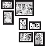 Wall Photo Frame Set Of 7 Pcs In Premium Synthetic Wood | One Pc Of 8 X 10 | Three Pcs Of 5 X 7 | Three Pcs Of...