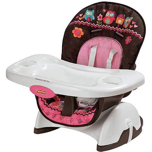 Fisher-Price Pink Owl SpaceSaver High Chair - 1
