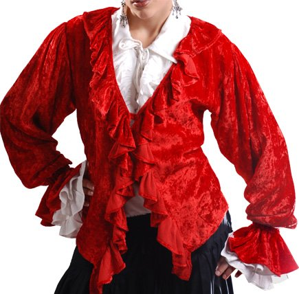 Pirate Wench Renaissance Medieval Costume Blouse Top
