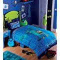 Disney Monsters Inc University Glow in the Dark Duvet/Quilt Cover Set, Single Bed
