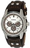 Ideen für Geburtstag Geschenke Uhren - Fossil Herren-Armbanduhr Sport Chronograph Leder braun CH2565