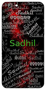Sadhil (Perfect) Name & Sign Printed All over customize & Personalized!! Protective back cover for your Smart Phone : Samsung Galaxy E5