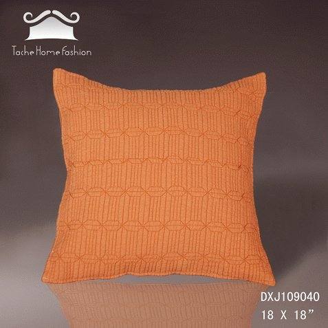 Tache 100% Cotton 2 Piece 18 X 18 Inches Burnt Orange Fall Harvest Decorative Accent Throw Cushion Cover