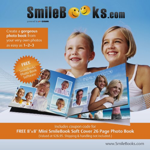 SmileBooks Software CD  Coupon Code for 8x8 Mini