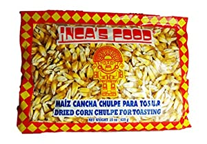 Inca's Food Maiz Cancha Chulpe Para Tostar- Dried Corn Chulpe for Toasting - Product of Peru 15oz