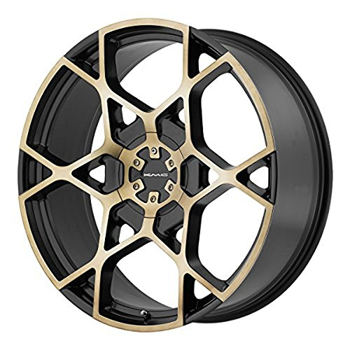 KMC Wheels KM695 Crosshair Satin Black Wheel with Machined Face and Tinted Clear (22x9