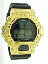 Men Casio G Shock 0.12ct Diamond Black Face Watch 6900