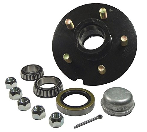 "Trailer Hub Kit - For 1-3/8"" Inner / 1-1/16"" Outer Tapered Spindle - 5 Bolt on 4-1/2"" Bolt Circle"