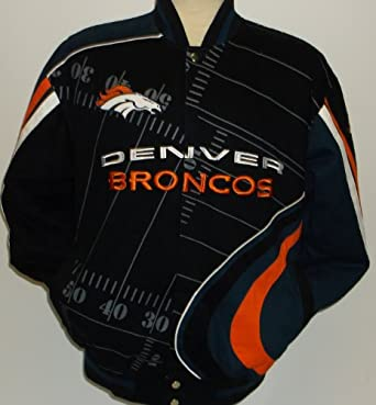 NFL Mens Denver Broncos 1st and 10 Cotton Twill Jacket by MTC Marketing, Inc