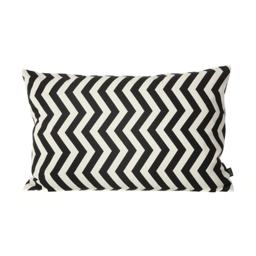 Kissen, Black Zig Zag Cushion