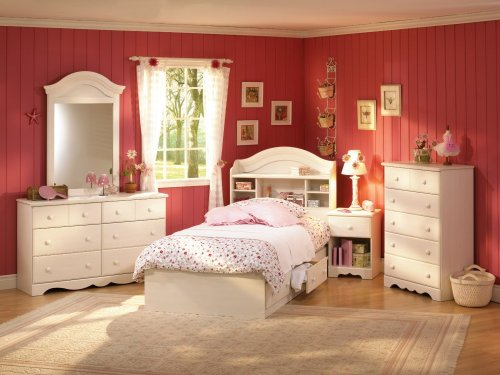 Cheap Kids Bedroom Furniture Set in Vanilla Cream – South Shore Furniture – 3210-BSET-1 (3210-BSET-1)