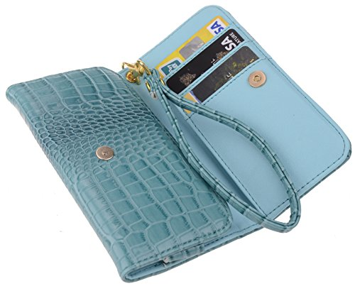 Wristlet Filp Leather Cellphone Holder Case Cover Boilfish – Credit Card Bank Card Holder (3 Slot) Plus full inner Pocket for Cash etc. Wallet for iPhone 6 (4.7) ; Samsung Galaxy S4, S3, S2, Alpha; LG G2, G2mini, Optimus L7 L5 L4 L3 L2 L1; HTC One X VX S mini, Desire 600 500 400 200; Nokia Lumia 925, 928 1020 720 730; Motorola DROID Raza Maxx HD Moto G Moto X; Sony Xperia Z1 Z3 Compact; LG Google Nexu 4 Nexus 5; BlackBerry Bold 9900 9930 9790, Curve 9315 9310 9360 – SmartPhone Cases (Blue)