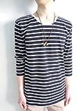 (モノマート) MONO-MART 7color ボーダー 7分袖 カットソー Tシャツ メンズ
