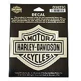 """HARLEY-DAVIDSON(ハーレーダビッドソン) 純正デカール """"CLASSIC B&S"""" ミディアム クローム/ブラック HD-D3023C"""