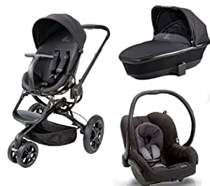 quinny mood stroller with tukk bassinet and maxi cosi mico car seat black devotion. Black Bedroom Furniture Sets. Home Design Ideas