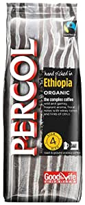 Percol Fairtrade & Organic Ethiopia Ground Coffee 227g (Pack of 8)