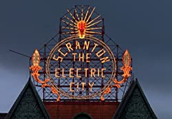 An Enduring Landmark - Scranton, Pennsylvania's 'Electric City' Sign - Nostalgic 16x20-inch Photographic Print by Carol M. Highsmith