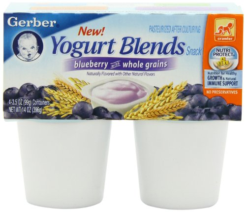 Gerber Yogurt Blends, Blueberry, 14-Ounce (Pack of 6)