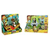 Jake And The Neverland Pirates BUNDLE - Musical Pirate Ship Bucky & Magical Tiki Hideout (Dispatched From UK)