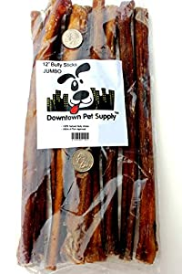 """12"""" inch Supreme Bully Sticks, JUMBO EXTRA THICK (10 pack) - Downtown Pet SupplyTM"""