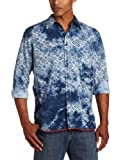 Margaritaville Mens Long Sleeve Printed Tie-Dye Shirt