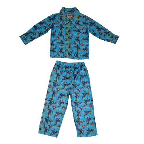 2 PCS SET: BATMAN Boys Or Girls Fleece Sleepwear Pajama Top & Pants Set