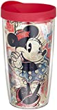 Tervis Pop Wrap Tumbler with Fuchsia Lid, 16-Ounce, Disney Minnie Mouse