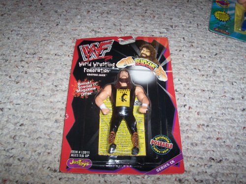 WWF / WWE Wrestling Superstars BendEms Series 9 Action Figure Cactus Jack - 1