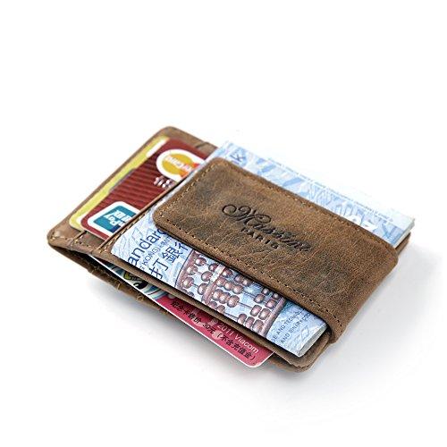 Leather Money Clip Front Pocket Wallet Credit Card Case