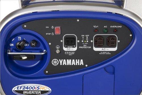 Yamaha EF2400iSHC Portable Generator Control Panel