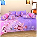 KP Lifestyles Cotton Diwan Set Of 8(1 Diwan Sheet, 5 Cushion Covers, 2 Bolster Covers)
