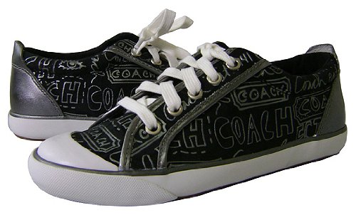 coach barrett signature gunmetal tennis shoes