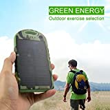 Lufei Solar Panel Charger 5000mah Rain-resistant and Dirt/shockproof Dual USB Port Portable Charger Backup External Battery Power Pack for Iphone 5s 5c 5 4s 4, Ipods(apple Adapters Not Included), Samsung Galaxy S5 S4, S3, S2, Note 3, Note 2, Most Kinds of Android Smart Phones ,Windows Phone and More Other Devices (camouflage)