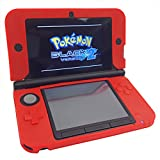 HDE Soft Silicone Rubber Gel Skin Case Cover for Nintendo 3DS XL/LL (Red)