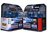 Hipro Power 9005 + 9006 5900K 100 Watt Super White Xenon HID Headlight Bulbs - Low & High Beam