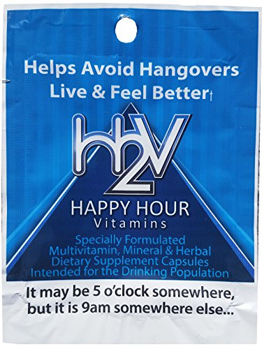 Happy Hour Vitamins -Multivitamin Formulated to Help w/ Hangovers & Natural Liver Support-20 Convenient Packets -100% Satisfaction Guaranteed -Stop Looking for a Hangover Cure, Prevent Hangovers!