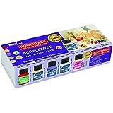 Hobby Line 77300 - Acrylfarben Limited Edition Matt Metallic Glitter Power Pack, 5 x 60 ml
