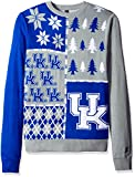 KLEW NCAA Kentucky Wildcats Busy Block Ugly Sweater, Large, Blue