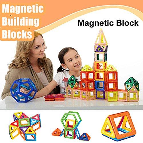 Foxpic 76 Piezas Accesorios Magnético Azulejos Construcción Bloques Niños Juguetes Juegos Bloque Imán Imanes Magformers