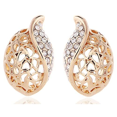 Lily Jewellery Fashion Ladies Gold Tone Swarovski Crystal Element Austrian Crystal Earring For Women