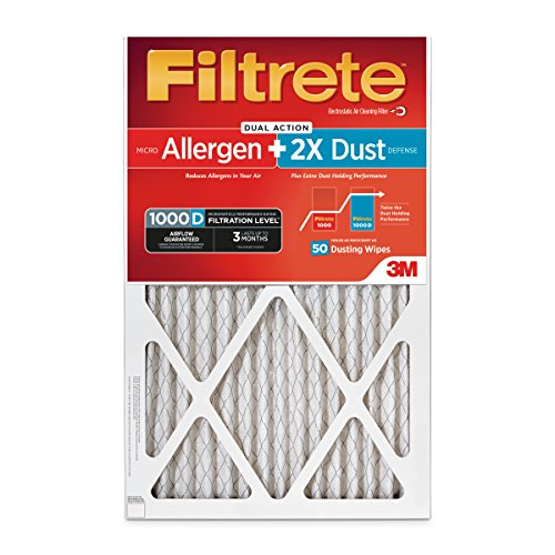 Filtrete Micro Allergen PLUS DUST Filter, MPR 1000D, 20 x 30 x 1-Inches, 2-Pack (Holds 2X More Dust!) (Filtrete 20 X 30 compare prices)