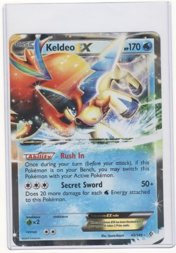 Pokemon Jumbo KELDEO EX Promo Card #49/149 LARGE SIZED!