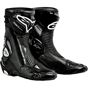Alpinestars S-MX Plus Gore-Tex Vented Men's Waterproof Sports Bike Motorcycle Boots - Black / Size 47