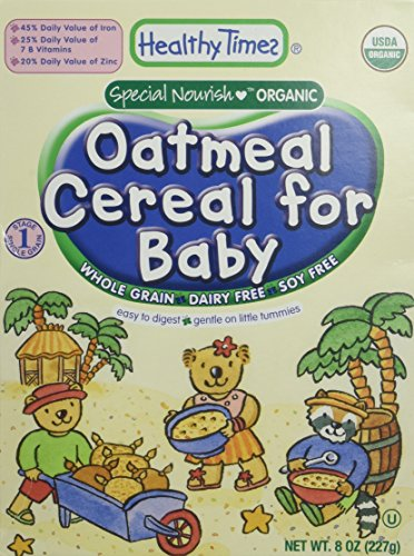 Healthy Times Oatmeal Cereal for Baby, Whole Grain - 8 oz - 1