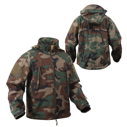 Rothco Special Ops Woodland Camo Tactical Softshell Jacket