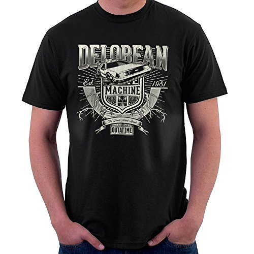 Outatime Delorean Back To The Future Men's T-Shirt