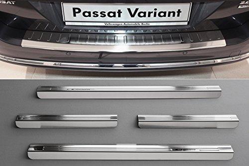 INOX-Plaques-de-seuil-et-protection-de-pare-chocs-pour-VW-Passat-B7-Variant-2010-2014