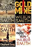 WILBUR SMITH WILBUR SMITH FOUR BOOK SET COLLECTION CRY WOLF GOLD MINE THE DARK OF THE SUN ELEPHANT SONG